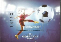 BHRS 2016-662 UEFA CUP FRANCE, BOSNA AND HERZEGOVINA REPUBLIKA SRBSKA, S/S, MNH - Fußball-Europameisterschaft (UEFA)