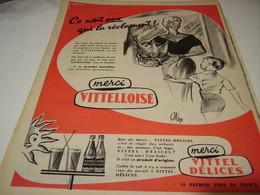 ANCIENNE PUBLICITE MERCI  LA VITTELLOISE  1956 - Posters