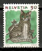 Switzerland 1990 Suiza / Cat MNH Gato Chat Katzen / Ka03  38 - Felinos
