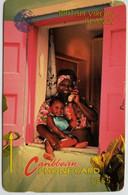 15CBVA Woman On Phone $5 - Virgin Islands