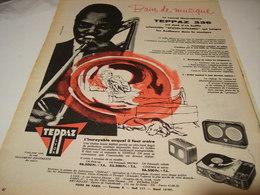 ANCIENNE PUBLICITE ELECTROPHONE TEPPAZ 336 BAIN DE MUSIQUE 1956 - Musique & Instruments