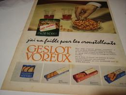 ANCIENNE PUBLICITE  POUR APERITIF GESLOT VOREUX 1956 - Posters