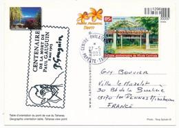 """POLYNESIE FRANCAISE - Cachet """"Centenaire De La Mort De Paul Gauguin 8 Mai 1903"""" - Sur CPM Papeete Centre Phil 2003 - Polynésie Française"""