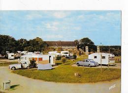 """1 CPSM  Guérande-la-Baule : Camping Caravaning """"Le Pré Du Château"""" : Caravanes, Autos - Guérande"""