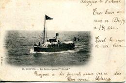 """N°2505 A -cpa Dieppe -le Remorqueur """"Furet"""" - Remorqueurs"""