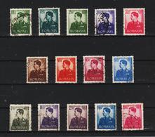 1940-42 Roi Michel Mi No 666/679   Complete - Gebruikt
