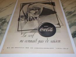 ANCIENNE PUBLICITE LA SOIF COCA COLA 1950 - Posters