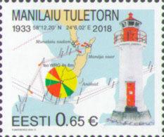 Estonia Estland 2018 MNH **  Mi. Nr. 923 Manilaiu Lighthouse M - Leuchttürme