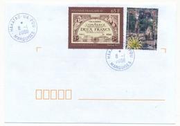 """POLYNESIE FRANCAISE - Enveloppe Affr. Composé, Oblitérée """" HAKATAO - UA -  POU / MARQUISES"""" 8.1.2008 - Lettres & Documents"""