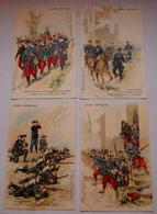 Lot De 4 Cpa Armée Française  Ad. Weick  Editeur - Guerre 1914-18