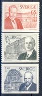 +D2986. Sweden 1974. Nobel Price 1914. Michel 886-88. MNH(**) - Suecia