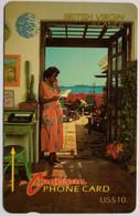 10CBVA Woman On Phone $10 - Virgin Islands