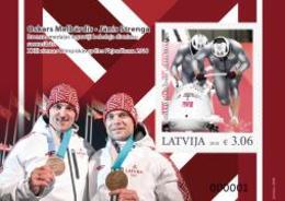 Latvia.2018.Olympic Winter Games.Pyeongchang -2018.Bobsleigh.Janis Strenga ,Oskars Melbardis.s/s Of 1 V. ** . - Hiver 2018 : Pyeongchang