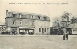 ESCARBOTIN - La Halte Du Chemin De Fer De Feuquière à Ault, L'hôtel Du Cheval Blanc Desmons. - France