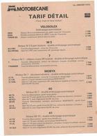 Doc  Motobecane  Tarif Detail  01.01.1979  Velosolex  Mobyx - France