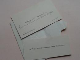 Emile Et Mme VAN OOSTERZEE - DELA MONTAGNE Rue Du Prévot BRUXELLES ( Zie Foto ) 2 Stuks + Omslag ( > Forest 1910 ) ! - Cartes De Visite
