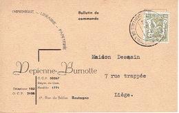 CP Publicitaire BASTOGNE 1947 - DEPIENNE-BURNOTTE - Imprimerie-Librairie-Papeterie - Bastenaken