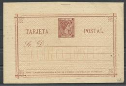 CUBA   EDIFIL   ENTERO POSTAL 2A - Cuba (1874-1898)