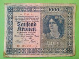 1000 Kronen 1922 - Austria