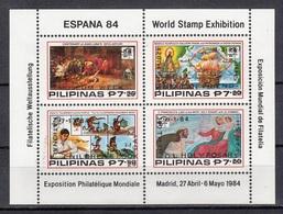 Filippine Philippines Philippinen Filipinas 1984 Espana'84 Perforated SS Overprinted In Black, 2nd Printing MNH** - Filippine
