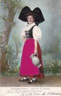 Elsässer Tracht - Costume Alsacien - Carte Gauffrée, Robe Tissée - Costumes