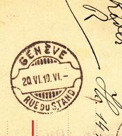 Entier Postal Allemand Pr Genève. Superbe Lame De Rasoir 20.VI.1910 - Covers & Documents