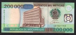MOZAMBICO (MOZAMBIQUE, MOCAMBIQUE) : 200000 Meticais - 1999 - UNC - Mozambico