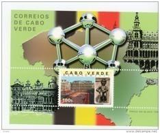 Cap Vert-Cabo Verde-2001-Atomium-Belgica-grand Place De Bruxelles-B31***MNH - Cap Vert
