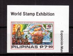Filippine Philippines Philippinen Pilipinas 1984 Philippine-Mexican Friendship 7.20p On 7.50p Red Ovpt. Imperf. MNH ** - Filippine