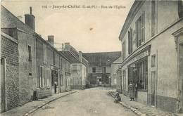 JOUY LE CHATEL - Rue De L'église,magasins Comptoirs Français Et Boulangerie. - Autres Communes