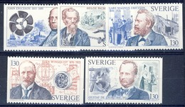 +G2080. Sweden 1976. Celebrities : Inventors. Michel 959-63. MNH(**) - Sweden