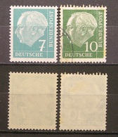BRD - Heuss 1954 Mi.Nr.181y**,183y Lumogen !Postfrisch & Gestempelt    (I30) - [7] Federal Republic