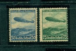 Deutsches Reich, Zeppelin LZ 129  Nr. 606 + 607 Falz/postfrisch */** - Gebraucht