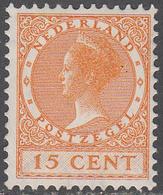 NETHERLANDS       SCOTT NO.  182      MINT HINGED      YEAR  1926     WMK--202 - Period 1891-1948 (Wilhelmina)