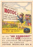 """NOTOC Le Fil """"Au Conscrit"""" Est En Pur Lin Garanti - Publicité"""