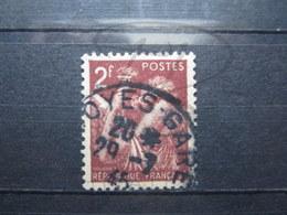"""VEND BEAU TIMBRE DE FRANCE N° 653 , CACHET """" TROYES-GARE """" !!! - 1939-44 Iris"""