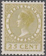 NETHERLANDS       SCOTT NO.  187      MINT HINGED      YEAR  1926     WMK--202 - Period 1891-1948 (Wilhelmina)