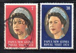 T2304 - PAPUA NUOVA GUINEA 1974 , Yvert N. 267/268  Usata - Papua Nuova Guinea
