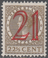 NETHERLANDS       SCOTT NO.  194      MINT HINGED      YEAR  1929 - Period 1891-1948 (Wilhelmina)