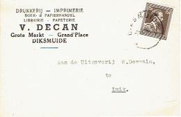 Carte Postale Publicitaire CELLES (HAINAUT) 1953 - Edmond LEBAILLY - Imprimerie-Papeterie-Librairie - Celles