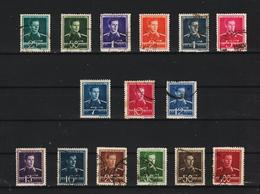 1940-42 Roi Michel  Mi No 650/665 Et Y&T 619/633 COMPLET 15 Val. - Usado