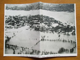 (1936)  TRENTEMOULT   -  Loire En Crue  - Coupure De Presse Originale (Encart Photo) - Documents Historiques