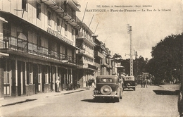 Cpa Martinique Rue De La Liberté Fort De France - Fort De France