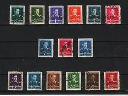 1940-42 Roi Michel  Mi No 650/665 Et Y&T 619/633 COMPLET 15 Val. - Gebraucht
