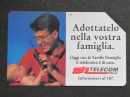 ITALIA 2411 C&C - TELEFONINO TELECOM ADOTTATELO NELLA LIRE 10.000 - USATA PERFETTA - Pubbliche Pubblicitarie