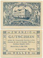 Ansfelden Bei Linz, 1 Schein Notgeld 1920, Schule Ritzlhof, Österreich 20 Heller - Oesterreich