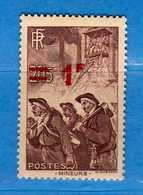 FRANCE **- 1941 -  Yvert 489 - .  Neuf.  MNH .  Vedi Descrizione - Nuovi