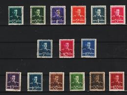 1940-42 Roi Michel  Mi No 650/665 Et Y&T 619/633 COMPLET 15 Val. - 1918-1948 Ferdinand, Carol II. & Mihai I.