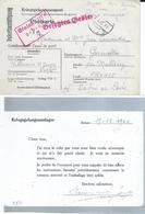 Correspondance  De Prisonnier Français En Allemagne Stalag VIII C - 2 Scans - Marcophilie (Lettres)