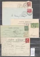 Lettres  Cachet  Convoyeur Verdun Sur Meuse à Sedan Et Retour - 5 Piéces - Cachets Diférents - Marcophilie (Lettres)